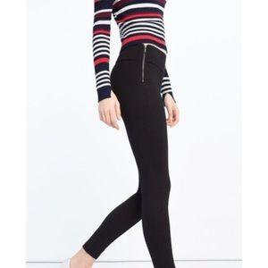 Zara Pants - Zara Dense Stretch Double Hip Zipper Leggings